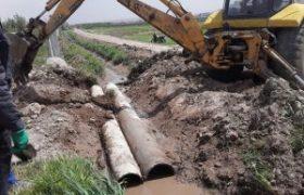 لوله گذاری و بهسازی کانالهای هدایت آبهای سطحی در ایلخچی