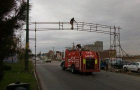استقرار گیت ضد عفونی کردن خودرو در ورودی شهر ایلخچی