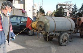 مقابله با کرونا در ایلخچی ادامه دارد/ ضدعفونی مستمر معابر و مجتمع های مسکونی شهر ایلخچی