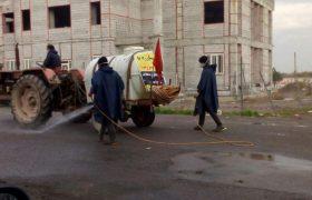 #نهضت_سلامت/تداوم عملیات ضد عفونی و گندزدایی معابر و محلات سطح شهر