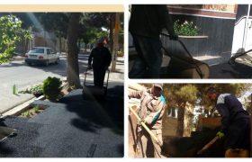 عملیات لکه گیری و بهسازی معابر سطح شهر ایلخچی