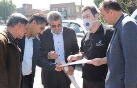 مطالعه پروژه بزرگ هدایت آبهای سطحی در ایلخچی/بازدید میدانی سرپرست شهرداری و اعضای شورای اسلامی از محل پروژه