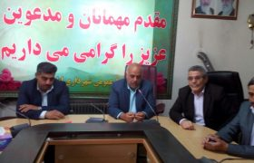 جلسه تودیع شهردار و معارفه سر پرست شهرداری ایلخچی