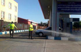 عملیات ضد عفونی و گندزدایی معابر و محلات سطح شهر