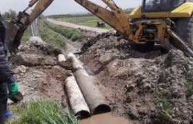 لوله گذاری و بهسازی کانال هدایت آبهای سطحی در ایلخچی
