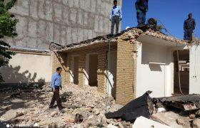 عملیات تخریب و عقب کشی در محلات سطح شهر ایلخچی(خیابان پاسداران، ملک آقای بهروز خیری)