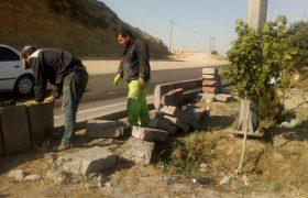 🔔ترمیم و بهسازی جداول تخریب شده بلوار خیایان امام(ره)