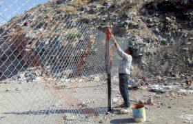 🛎اتمام عملیات اجرایی فنس کشی محل دفن پسماندهای عمرانی و ساختمانی در ایلخچی/روایت_تلاش|#شهرداری_ایلخچی