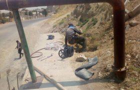تعویض شیر فلکه آب آبیاری فضای سبز واقع خیابان شهید مطهری