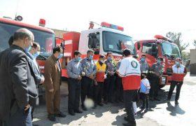 🟡نوآموزان مهدهای کودک و دانش آموزان از ایستگاه آتشنشانی ایلخچی بازدید کردند
