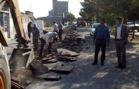 📣📣آغاز عملیات اجرایی احداث باند کندرو در مبادی وردی و خروجی شهر ایلخچی