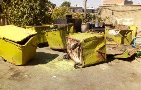 طرح تعمیر و بازسازی سطلهای زباله سطح شهر شهر ایلخچی