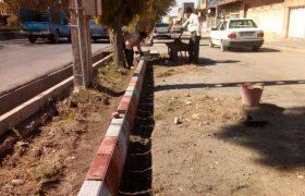 📣📣تداوم عملیات اجرایی جدول گذاری و بهسازی جداول خیابان امام(ره)