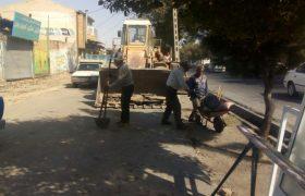 تداوم عملیات روان سازی معابر شهر ایلخچی
