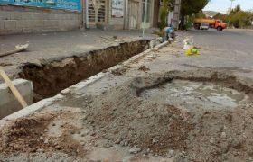 #عملیات ترمیم و بهسازی جداول تخریب شده سطح شهر ایلخچی
