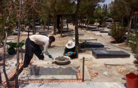 ساماندهی گلزار مطهر شهدای شهر ایلخچی